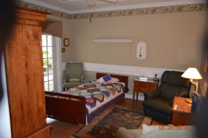 One of 4 guest rooms at Hospice House.