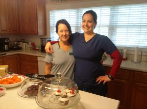 Two of our Hospice House Companions, Penny Wilcox (left) and Kristen Bilger (right)